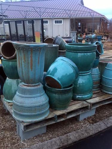 pottery pots urns garden