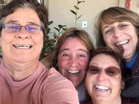 Nelsa Cox, Rachel, Carol, Susan, Garden Hut staff