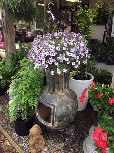 chimenea garden art