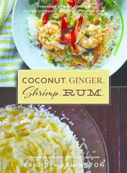 coconut ginger shrimp rum cookbook brigid washington author