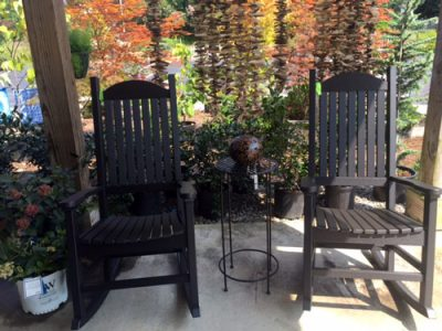 porch rockers fall plants amish made