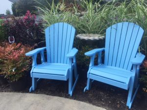 outdoor furniture chairs shrubs ornamental grasses