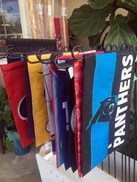 garden flags Carolina Panthers ECU NCSU NC State Duke