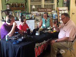 WPTF Radio live broadcast Garden Hut Fuquay Varina NC