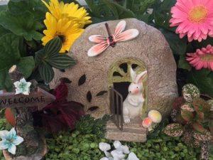 fairy garden accessories rabbit dragonfly flowers