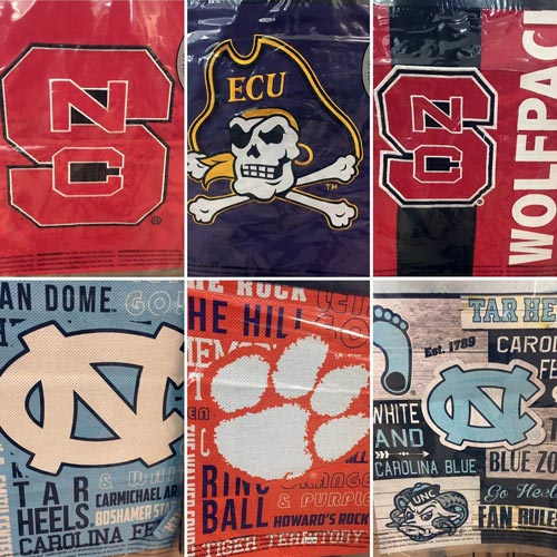 garden flags with college logos