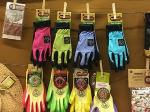 colorful gardening gloves by womans work