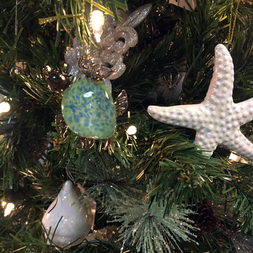 starfish and beach themed ornaments